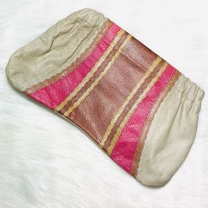 Vintage Carlo Falchi Clutch Handbag Leather